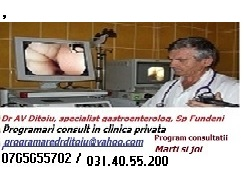 Bucuresti- clinica de gastroenterologie, endoscopie digestiva